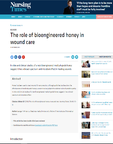 The role of bioengineered honey in Wound Care