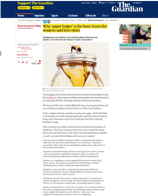 Why 'super honey' is the bees' knees for wounds and infections